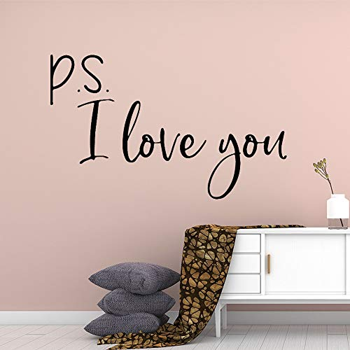 HNXDP Love Quotes Decoración familiar Etiqueta de la pared Decoración de la habitación de los niños Vinilo Arte Dormitorio Etiqueta de la pared Mural Marrón L 30cmx59cm