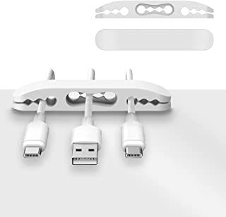 3 Packs Cable Clips, 10 Slots Adhesive Cord Management Holder & Organizer, Wire Holder System, Cord Hooks for Power Cords ...