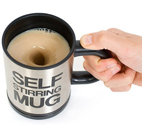 Hangqiao selbstrührender Kaffeebecher, kleine Größe, Schwarz