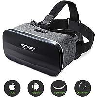 HAMSWAN Gafas de Realidad Virtual, [Regalos para Padre] 3D VR Peso Ligero 238g, VR Glasses Visión Panorámico 360 Grado Película 3D Juego Immersivo para Móviles 4.0-6.0 Pulgada