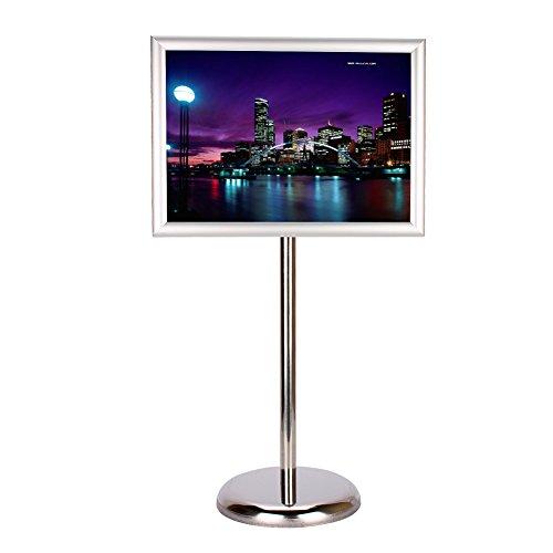 Posterständer, A4 & A3 Aluminium Snap Frame Verstellbarer Podest Halter Clip Board Display für...