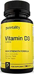 Vitamin D3 365 Tablets by Puretality