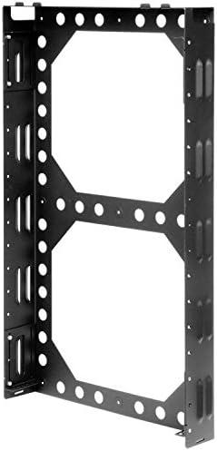 RackSolutions 2U Secure Vertical Wall Mount Sever Rack with Lock Bar