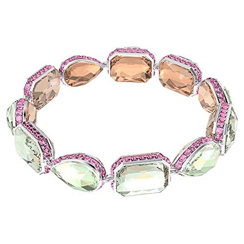 Swarovski Pulsera Orbita, Cristales de Talla Combinada, Multicolor, Baño de Rodio