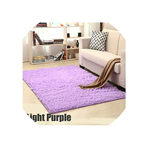 Carpet for Living Room Home Warm Plush Floor Rugs Fluffy Mats Kids Room Faux Fur Area Rug Living Room Mats Silky Rugs,Light Purple,100X160Cm