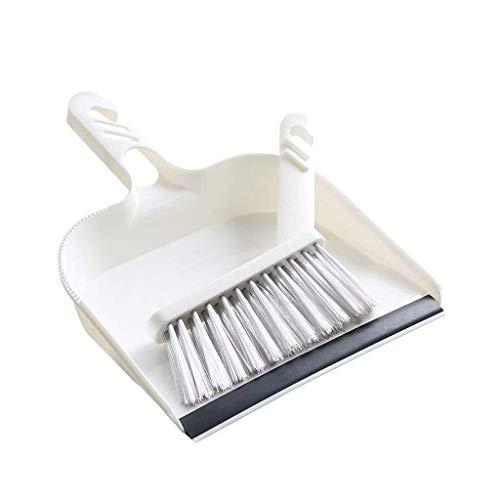 NJIUHB Broom, draagbaar ontwerp Broom Thuis mini plastic bezem Set Sofa Tafel schoonmaak tool, met comfortabele handgreep reinigingsmiddelen, 8,1 * 10,6 * 1.4in, 5,7 * 5,3 * 5.1in