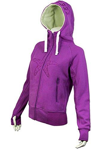 SEESTERN Damen Kapuzen Sweat Shirt Jacke Kapuzen Pullover Hoody Sweater S - XXL SW1021.lila XL