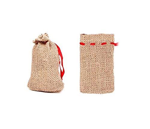 Jutesäckchen 24 Stück Jutesäcke Set (js-01) Adventskalender Säckchen, 12 x 8 cm, zum Basteln & befüllen von Alsino