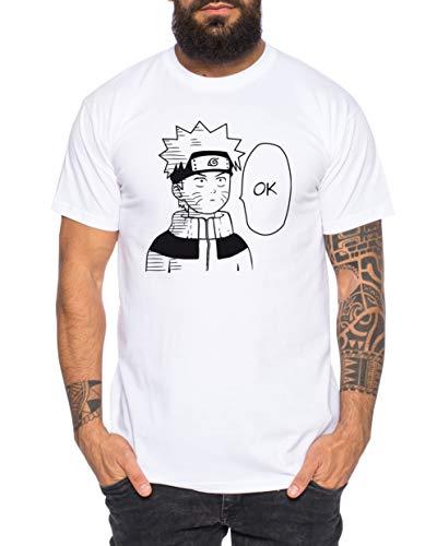 Tee Kiki Naruto Ok - Camiseta de Hombre Son Ruffy Luffy Saitama One Dragon Goku Ball Vegeta Punch Man Piece