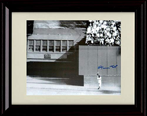 Framed Willy Mays - The Catch - Autograph Replica Print