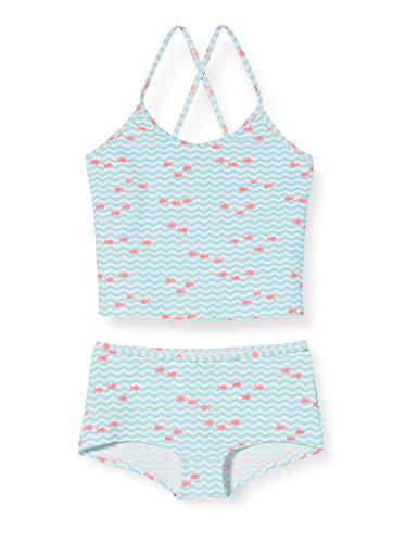 ESPRIT WATER AOP MG tankini+hotpants Bikini-Set, Mädchen, Türkis 104/110