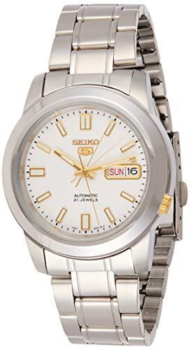 Seiko Reloj analogico para Hombre de automático con Correa en Acero Inoxidable SNKK07K1