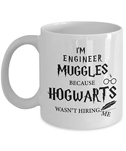 Muggles 'I' M Engineer porque no era 'T Hiring Me' divertido para ingeniero Películas y series Fan Club Adicto al café Tazas de café - Para Navidad, jubilación, gracias, feliz regalo de vacaciones 11