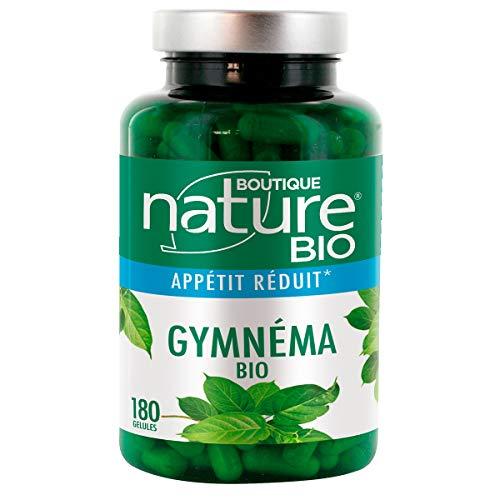 Boutique Nature - Complément Alimentaire - Gymnéma BIO - 180 Gélules Végétales - Réduit l'appétit - Format Eco