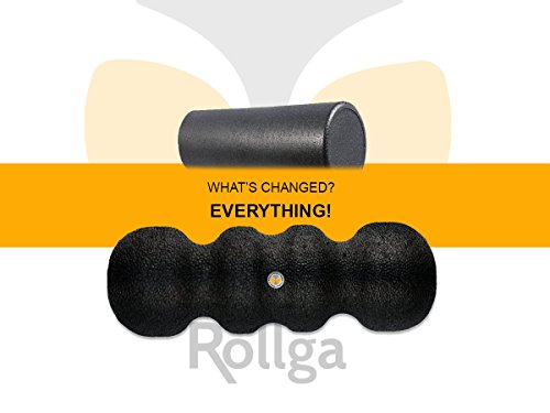 Product Image 3: Rollga Foam Roller: Deep Tissue Massage and Trigger Point Release Muscle Roller, Hard Foam Version, Black Color