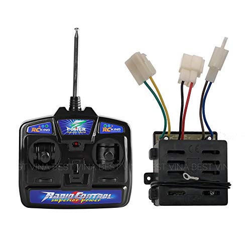 27Mhz Universal Remote Control and 12V Receiver Kit Transmitter Motherboard Control Box Accessories for Kids Electric Cars Children Electric Ride On Car Replacement Parts