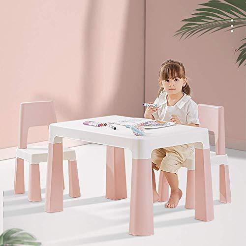 sjdxd - Scrivania per bambini, multifunzione, con cassetti a nascondiglio, per coltivare la capacità di auto-cura del bambino, adatto per mangiare/imparare/giocare, colore: Rosa