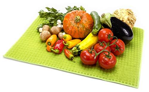 Tescoma Presto - Alfombrilla seca frutas y verduras, microfibra, verde