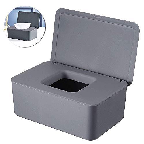 Vegena Feuchttücher box, Toilettenpapier Box, Tissue Aufbewahrungskoffer, Baby Feuchttücherbox, Baby Tücher Fall, Kunststoff Feuchttücher Spender, Serviettenbox mit Deckel, Taschentuchhalter,Tücherbox