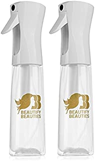 Beautify Beauties Original Flairosol Empty Clear Spray Bottle, Continuous Water Mister - 10 Ounce (Pack of 2)