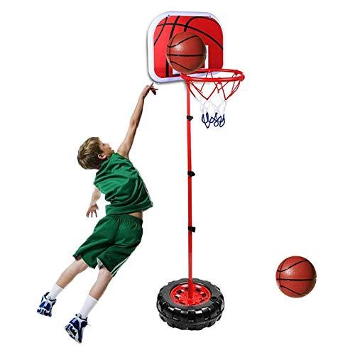 BYASW Canasta de Baloncesto para Niños Portátil de Altura Ajustable Mini Canasta de Baloncesto de Pie para Deportes De Interior,200cm