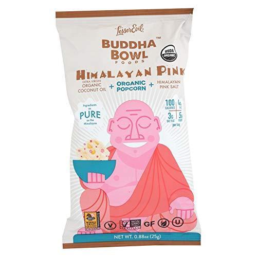 Lesser Evil Popcorn - Organic - Himalayan Pink - .88 oz - case of 18 - Gluten Free - Dairy Free - Yeast Free - Wheat Free-Vegan
