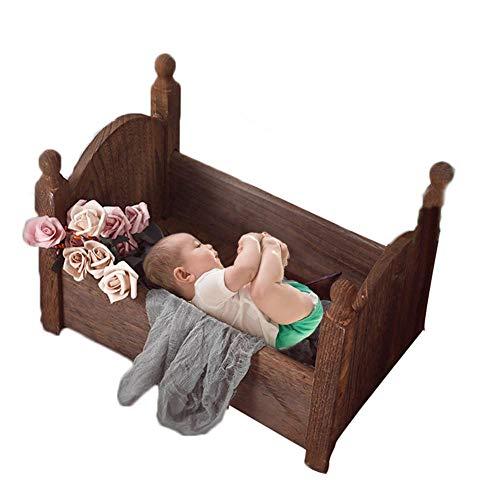 Sunneey Pasgeboren fotografie rekwisieten kinderbed baby foto klein houten bed pasgeborenen rekwisieten bed poseert rekwisieten fotostudio kribbe rekwisieten