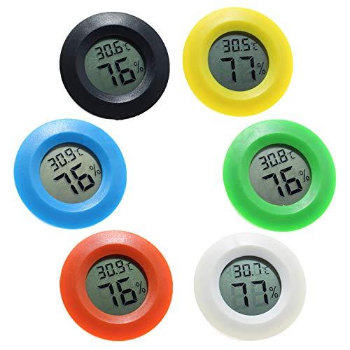 ZHITING Mini-Hygrometer-Thermometer LCD Digital Innen-Außenfeuchtemessgerät Temperaturmesser Luftfeuchtigkeit Tester für Luftentfeuchter Gewächshaus Keller Babyzimmer(6 pcs)