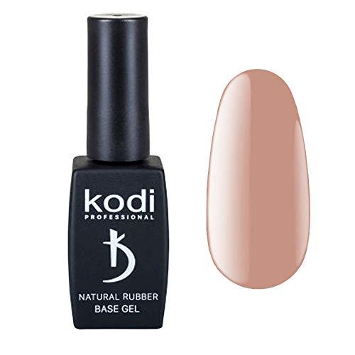 Kodi Professional Base Coat Überlack Dark Beige Natural 12ml | Einweichgel, Nagelpolitur | Für langlebige Nägel | Einfach zu verwenden, ungiftig & geruchlos | Aushärtung unter LED oder UV-Lampe