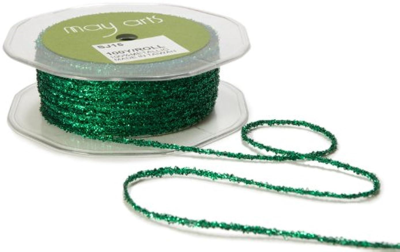 May Arts Ribbon, Green Metallic String
