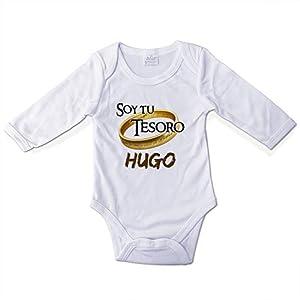 Body Personalizado Bebé con Nombre. Regalos Personalizados para Bebés. Bodies Personalizados Manga Larga. Varias Tallas. Señor de los Anillos