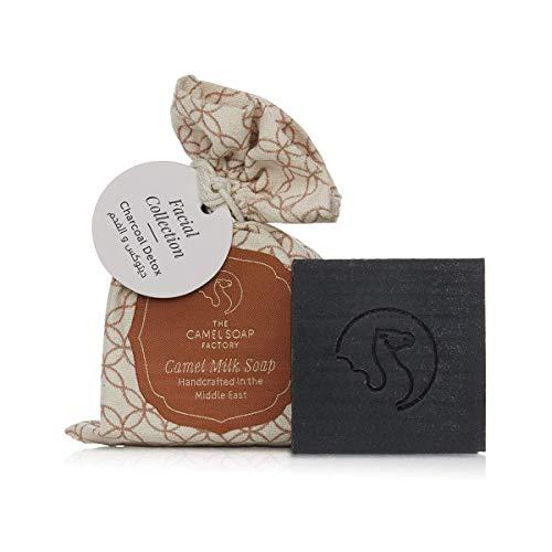 Spezial Gesichts-Seife aus Kamelmilch mit Aktivkohle & Teebaumöl, Naturseife handgefertigt zur Gesichtspflege, 100% natürlich, hautfreundlich für Körper und Gesicht zur täglichen Reinigung