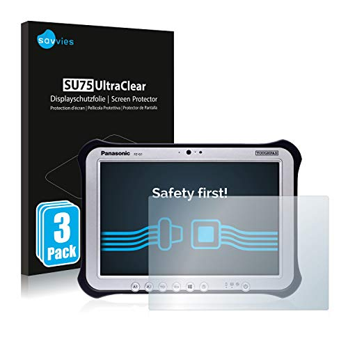 Savvies 3X Schutzfolie kompatibel mit Panasonic Toughpad FZ-G1 Bildschirmschutz-Folie Ultra-transparent