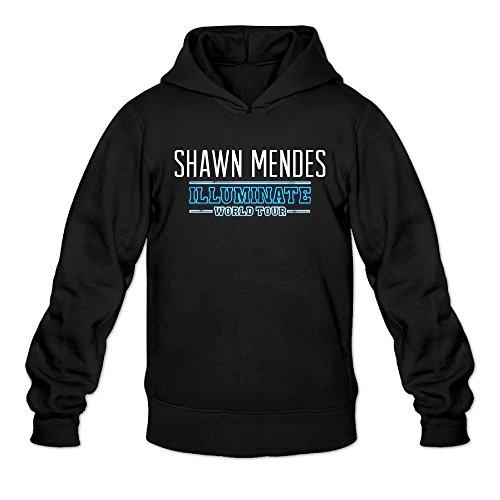LIDO Men's Shawn Mendes Illuminate World Tour Fashion Sweatshirt Hoodie Black