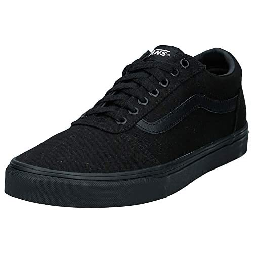 Vans Ward, Sneaker Uomo, Nero ((Canvas) Black 186), 42 EU