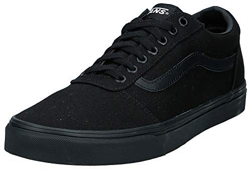 Vans Ward, Sneaker Uomo, Nero ((Canvas) Black 186), 42.5 EU