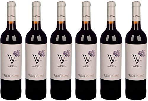 Vino tinto DO Pla de Bages, año 2016 - PACK 6 BOTELLAS - Tempranillo, Merlot, Cabernet Franc y Syrah - Selecció
