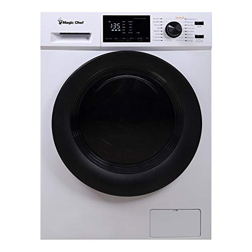 Magic Chef MCSCWD27W5 2.7 Cubic Foot Front Load Washing Washer And Dryer Machine Combo Combination Appliance, White