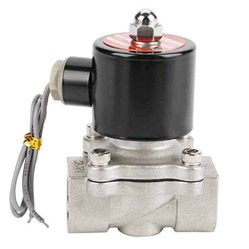 NIANZAI Hongfubang vástago de válvula Válvula de Bola 12V G3 / 4'Acero Inoxidable 304 Normalmente válvula de solenoide eléctrico Normalmente Cerrado 2 Posición Vábrica de Bola del actuador de 2 vías