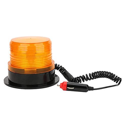 Luz de advertencia estroboscópica LED 60W 5A 12‑80V para autobús escolar montado en el techo amarillo intermitente con encendedor de cigarrillos