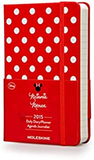 Moleskine 2015 Minnie Mouse Limited Edition Daily Planner, 12 Month, Pocket, Red, Hard Cover (3.5 x 5.5)