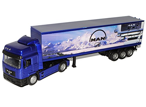New Ray Man F2000 40' Container Blau Truck LKW 1/43 Modell Auto