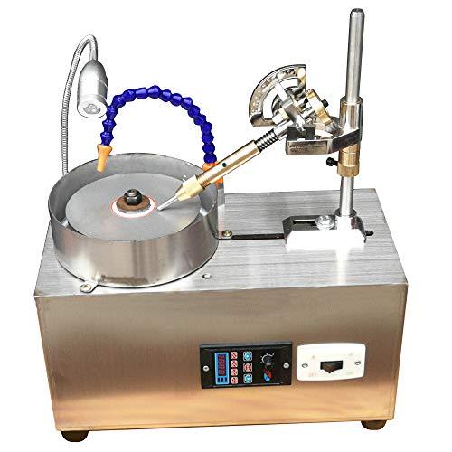 Gem Faceting Machine, Jewelry Polisher Flat Grinder Jade Stone Angle Polisher Machine Ring Surface Grinder with Manipulator 110V (3000RPM)