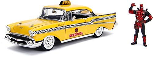 Jada JA30290 1:24 Deadpool Taxi mit Figur, Mehrfarbig
