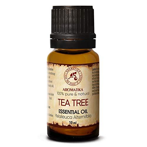 Aceite Árbol de Té 10ml - Melaleuca Alternifolia Leaf Oil - Australiano - 100% Puro y Natural - Sin Diluir - Excelente para la Belleza - Relajación - Lámpara de Aroma - Cosmética - Cuidado Corporal