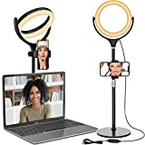 Computer Ring Light for Video Conferencing - Desk Circle Light for Laptop...