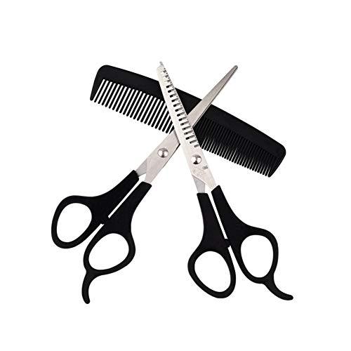 CheungLee Juego de tijeras de corte de pelo, tijeras de peluquería para adelgazar los dientes con peine de pelo, tijeras de peluquería para salón