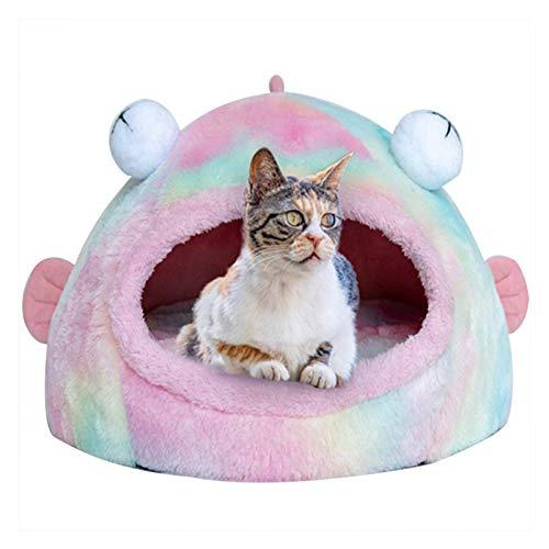 GAOZHEN Tienda para Mascotas Cama Cueva para Gatos/Perros pequeños - Tienda para Gatos 2 en 1 / Cama para Gatos Casa cálida de Invierno para Mascotas con tapete extraíble y Lavable - Camas para ma