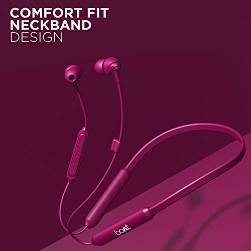 boAt 100 Wireless Bluetooth in Ear Earphone with Mic (Maroon)