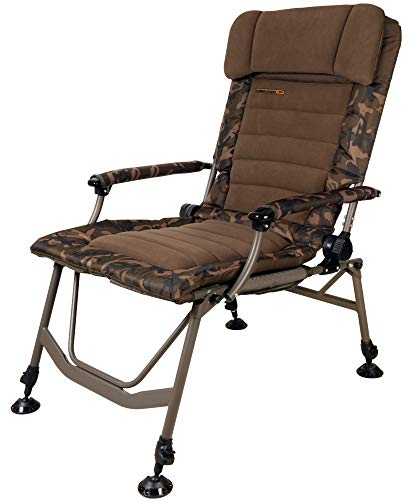 Fox Super Deluxe Recliner Chair Angelstuhl zum Karpfenangeln, Stuhl zum Ansitzangeln, Karpfenstuhl für Angler